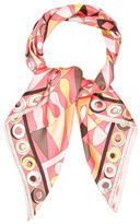 Emilio Pucci Multicolor Abstract Scarf