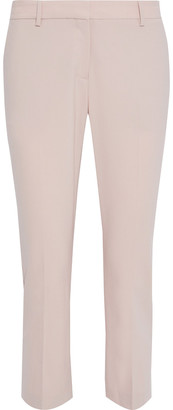 Theory Treeca Cropped Stretch-wool Slim-leg Pants