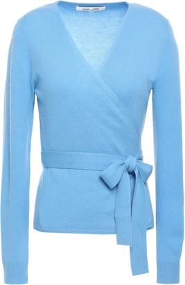 Diane von Furstenberg Alaina Wool And Cashmere-blend Wrap Top