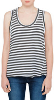 Bassike Stripe Detailed T Back Tank