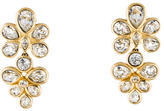 Christian Dior Crystal Cluster Clip-On Earrings