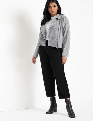 ELOQUII Soft Knit Moto Jacket