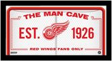 """Steiner Sports Detroit Red Wings Framed 10"""" x 20"""" Man Cave Sign"""