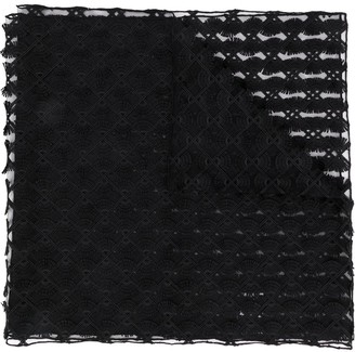 D-Exterior Sheer Panelled Scarf