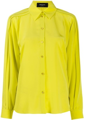 Rochas Pleated Crepe De Chine Blouse