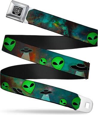 Buckle Down Buckle-Down Buckle-Down Seatbelt Belt Alien Regular Accessory