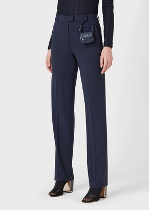 Giorgio Armani Slim-Fit Trousers In Stretch Wool