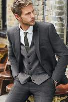 Mens Next Grey Tailored Fit Textured Suit: Jacket - Grey