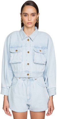 Alberta Ferretti Cropped Cotton Denim Jacket