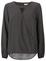 Jeanswest Nicola Print Cross Front Top-Black/Star White-12