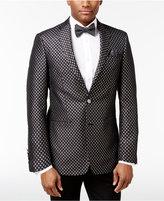 Tallia Men's Big and Tall Slim-Fit Black/Metallic Silver Diamond Dinner Jacket