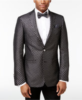 Tallia Men's Big & Tall Slim-Fit Black/Metallic Silver Diamond Dinner Jacket