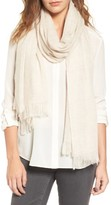 Nordstrom Women's Caslon Heathered Cashmere Gauze Scarf