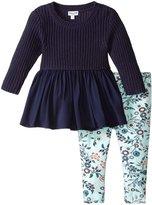 Splendid Sweater W/Printed Legging Set (Toddler/Kid) - Navy - 2T