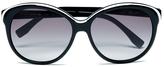 Lacoste Women's Round Sunglasses White/Black