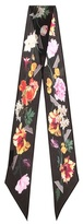 Rockins Flora floral-printed silk scarf