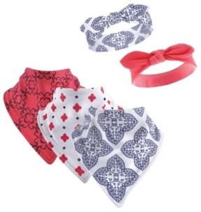 Yoga Sprout Bandana Bibs and Headbands, 5-Piece Set, 0-9 Months
