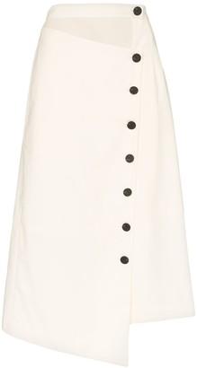 Low Classic asymmetric button-down skirt