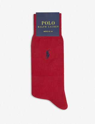 Polo Ralph Lauren Logo-embroidered mercerised cotton-blend socks