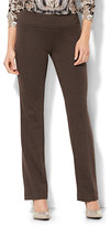 New York & Co. 7th Avenue Pant - Straight Leg - Signature - Pull-On - Ponte - Brown