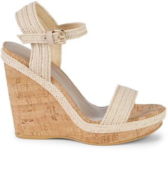 Stuart Weitzman Jezebel Leather Wedge Sandals