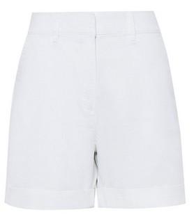 Dorothy Perkins Womens Dp Tall White Chino Shorts, White