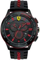 Ferrari Scuderia Men's Chronograph Scuderia Black Silicone Strap Watch 48mm 830138