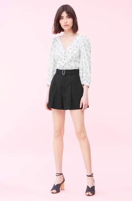 Rebecca Taylor La Vie Linen Cotton Twill Short