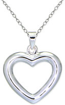 Giani Bernini Polished Open Heart Pendant Necklace in Sterling Silver, Only at Macy's