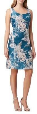 Tahari Arthur S. Levine Floral Jacquard Sheath Dress