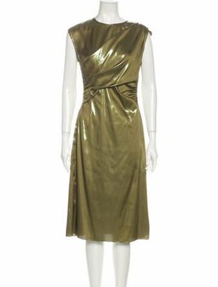Sies Marjan Bateau Neckline Midi Length Dress Green
