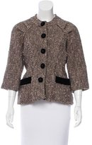 Marc Jacobs Collarless Tweed Jacket