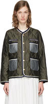 Undercover Khaki Quilted Pockets Jacket