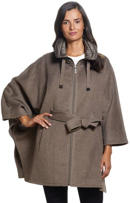 Ellen Tracy Women's Wool Blend Cape Coat