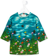 Gucci Kids - garden print sweatshirt - kids - Cotton - 6 yrs