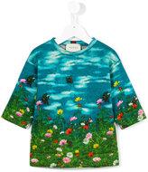 Gucci Kids garden print sweatshirt