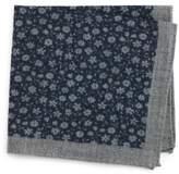 Ted Baker Men's Patterned Wool Pocket Square