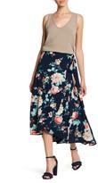 Bobeau Floral Wrap Skirt (Petite)
