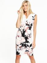 Wallis Silhouette Floral Scuba Dress