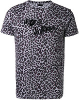 Marc Jacobs logo leopard print T-shirt - men - Cotton - XL