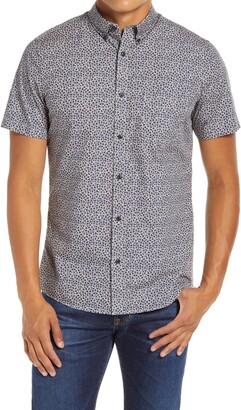 1901 Spade Slim Fit Floral Short Sleeve Button-Down Shirt