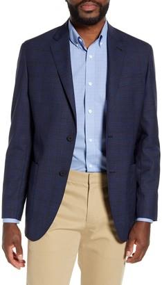 Nordstrom Trim Fit Plaid Wool Blazer