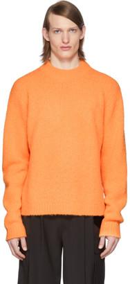 Tibi SSENSE Exclusive Orange Alpaca Cozette Sweater