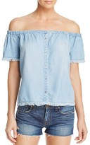 Bella Dahl Off-the-Shoulder Chambray Top