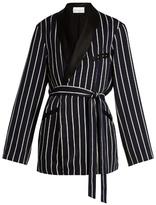 Raey Striped satin smoking jacket
