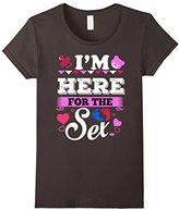 Women's Maternity Shirt I'm here for the sex gender reveal T-shirt Medium
