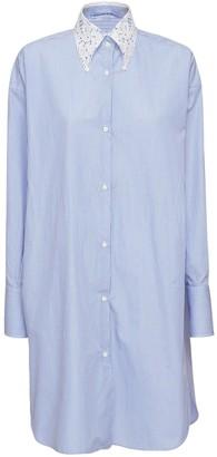 Ermanno Scervino Striped Cotton Shirt Dress