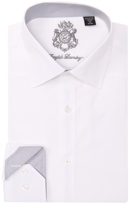 English Laundry Textured Solid Trim Fit Dress Shirt