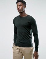 Selected Merino and Silk Wool Neck Knitwear