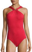 MICHAEL Michael Kors Villa Del Mar Highneck One-Piece Swimsuit